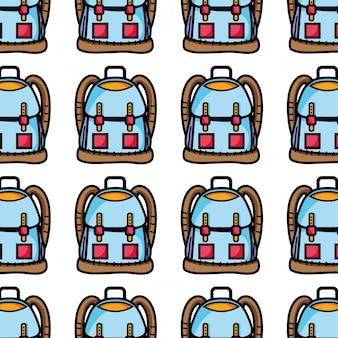 Objeto de mochila com design de bolsos e fechos