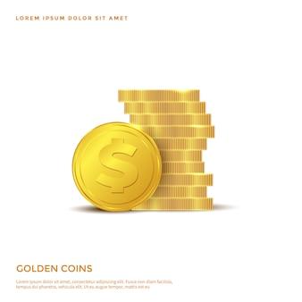 Objeto de moeda de ouro