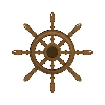 Objeto de navio leme para navegação marítima