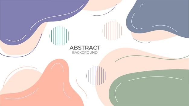 Objeto geométrico de design sem costura de fundo abstrato, com design decorativo em estilo abstrato com objeto fluido