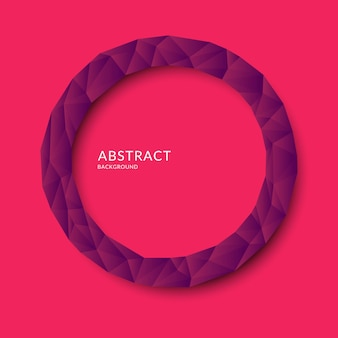 Objeto poligonal abstrato em segundo plano. design de baixo poli. ilustração vetorial