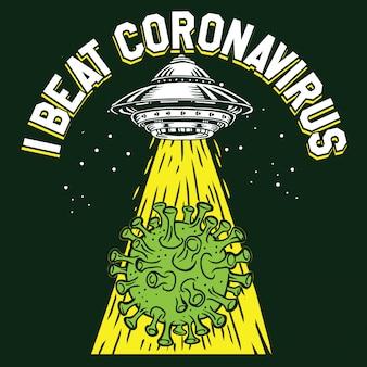 Objeto voador não identificado de ovni de coronavírus covid-19