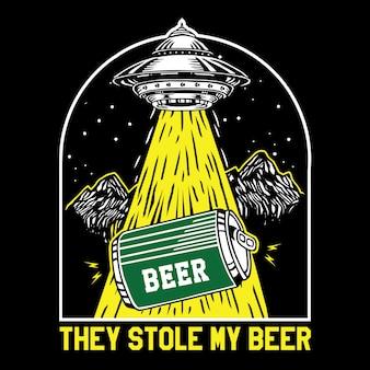 Objeto voador não identificado ovni lata roubada cerveja
