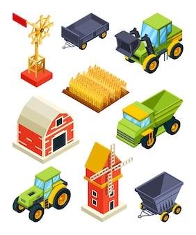 Objetos arquitetônicos de fazenda ou vila