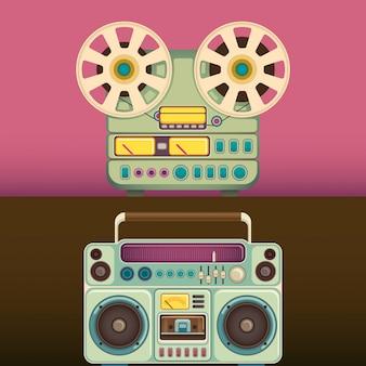 Objetos de áudio retrô