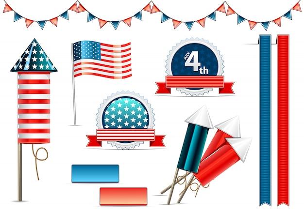 Objetos de decoração do dia da independência
