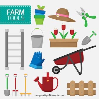 Objetos de fazenda embalar