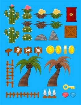 Objetos de jogo do deserto