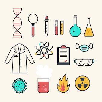 Objetos de laboratório de ciências