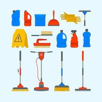 Objetos de limpeza de superfícies