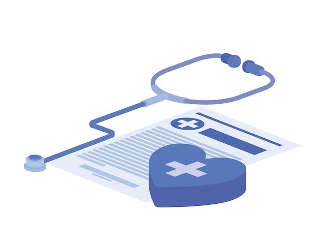 Objetos de medicina em branco