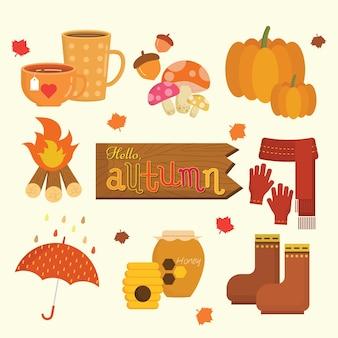 Objetos de outono