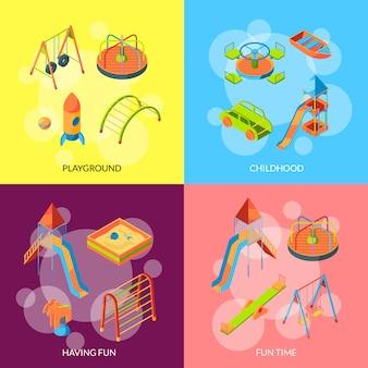 Objetos de playground isométrica