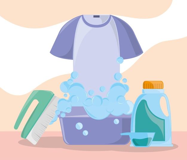 Objetos de roupas de lavanderia