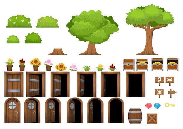 Objetos do jogo da aldeia