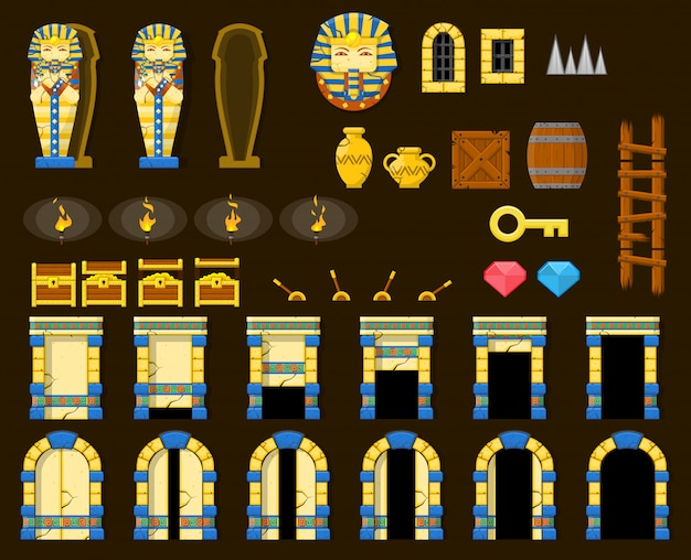 Objetos do jogo da pirâmide
