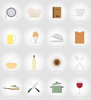 Objetos e equipamentos para a comida.