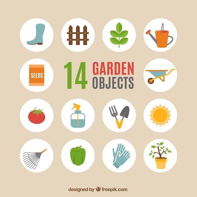 Objetos jardim