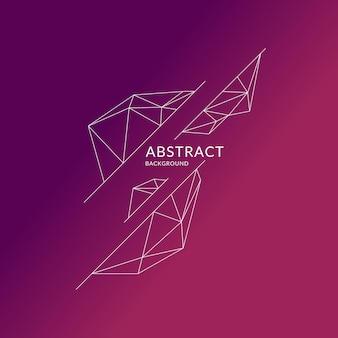 Objetos poligonais abstratos em segundo plano. design de baixo poli. ilustração vetorial