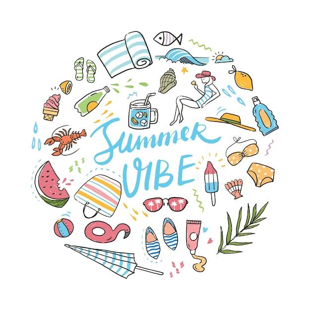 Objetos relacionados ao verão