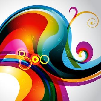 Obras de arte de fundo de onda eps10 coloridas