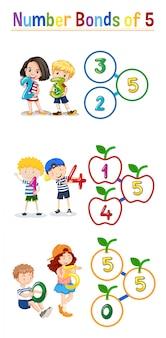 Obrigações numéricas de cinco