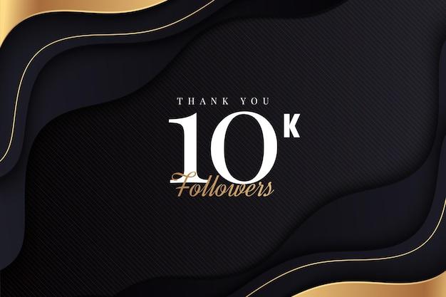 Obrigado 10 mil seguidores com onda dourada