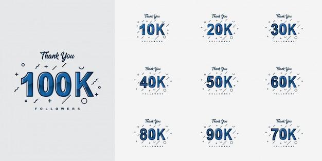 Obrigado 10k a 100k seguidores design