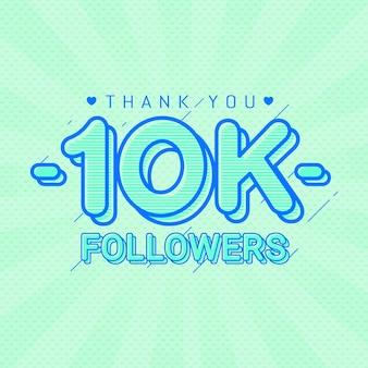 Obrigado 10k seguidores bandeira de parabéns
