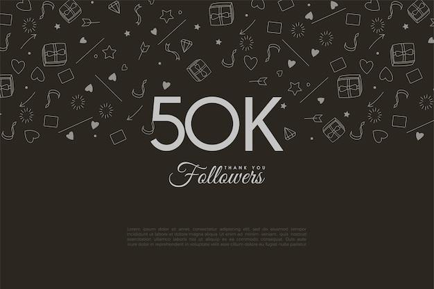 Obrigado aos 50 mil seguidores com metade do fundo preenchido com pequenas fotos.