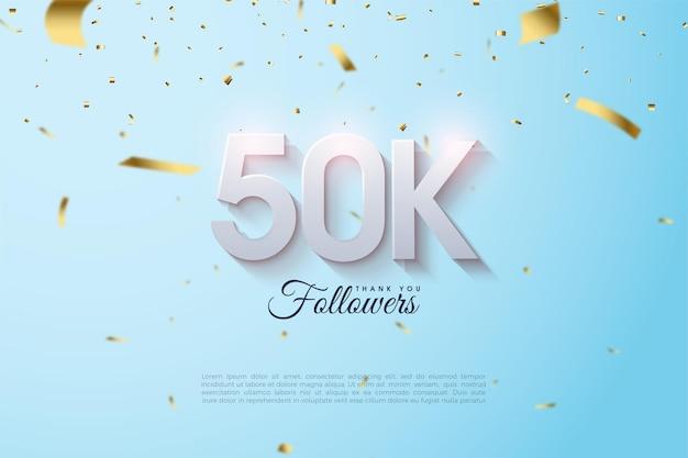 Obrigado aos 50 mil seguidores com os números sumindo no topo.