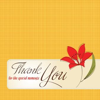 Obrigado cartão com flor