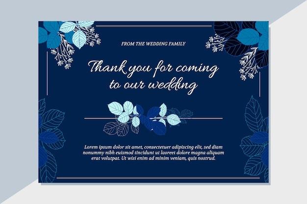 Obrigado cartão de casamento