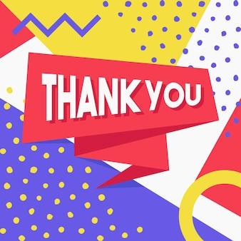 Obrigado cartão decorativo design moderno joyful vector eps