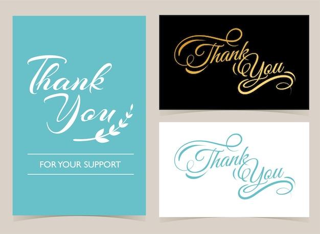 Obrigado conjunto de cartões