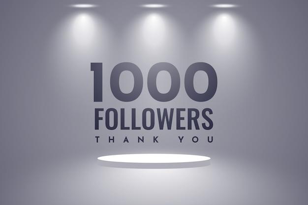 Obrigado design de 1000 seguidores