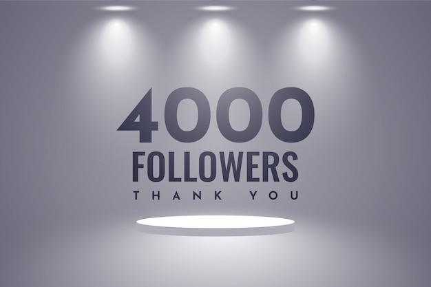 Obrigado design de 4000 seguidores