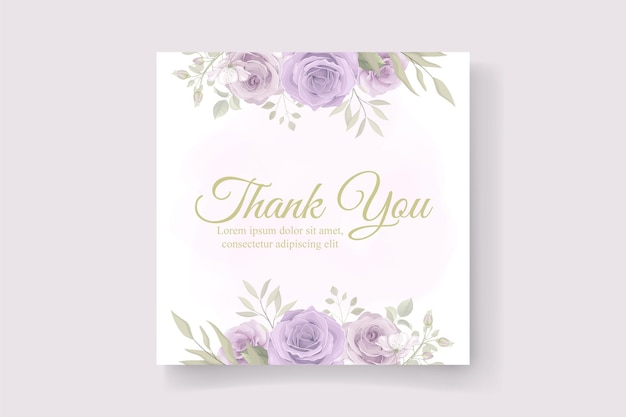 Obrigado design de cartão em um tema de flor