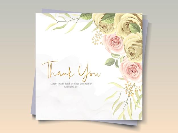 Obrigado design de cartão em um tema de flores