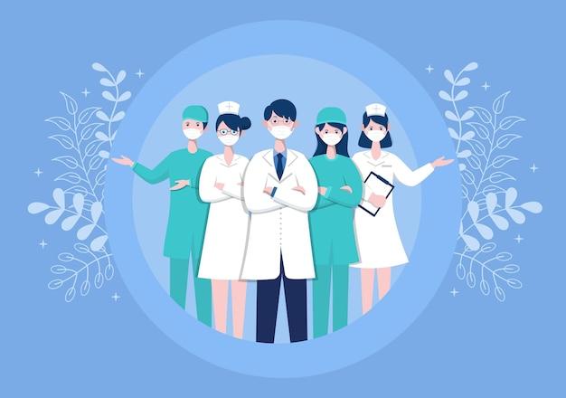 Obrigado doutor e enfermeira. dia de ação de graças