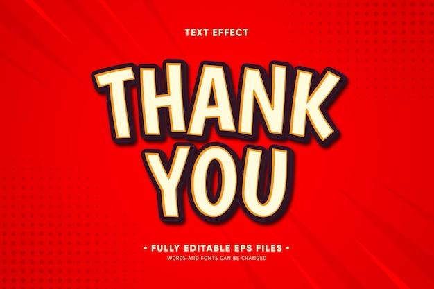 Obrigado efeito de texto