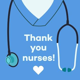 Obrigado enfermeiras - ilustração do conceito