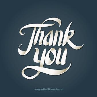 Obrigado fundo com letras