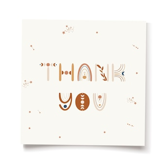 Obrigado ilustração design de cartão