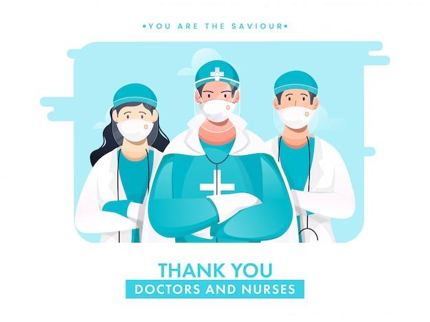 Obrigado médicos e enfermeiros são o nosso salvador pelo combate ao coronavírus.