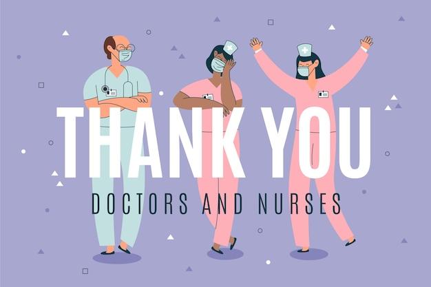 Obrigado médicos por sua devoção