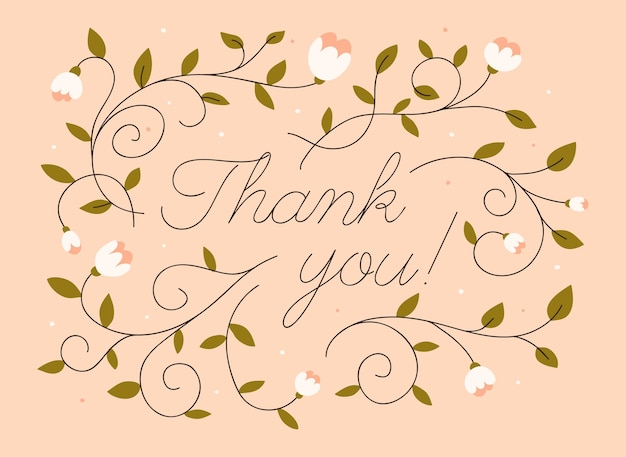 Obrigado mensagem com flores