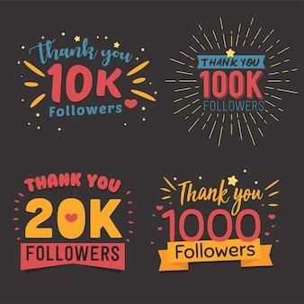 Obrigado pacote de seguidores