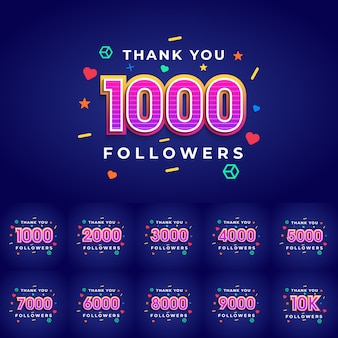 Obrigado parabéns seguidores