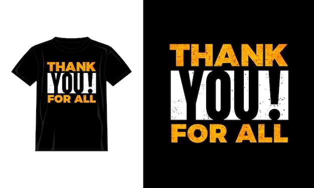Obrigado por todo o design de camisetas tipográficas